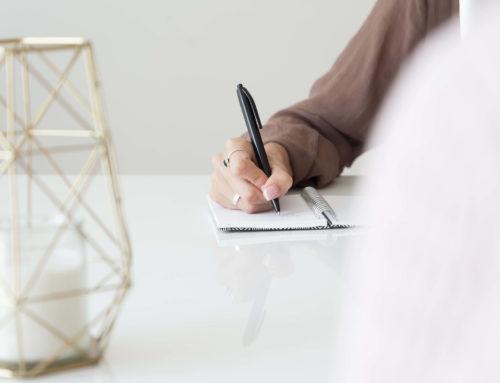 La importancia de escribir tus objetivos